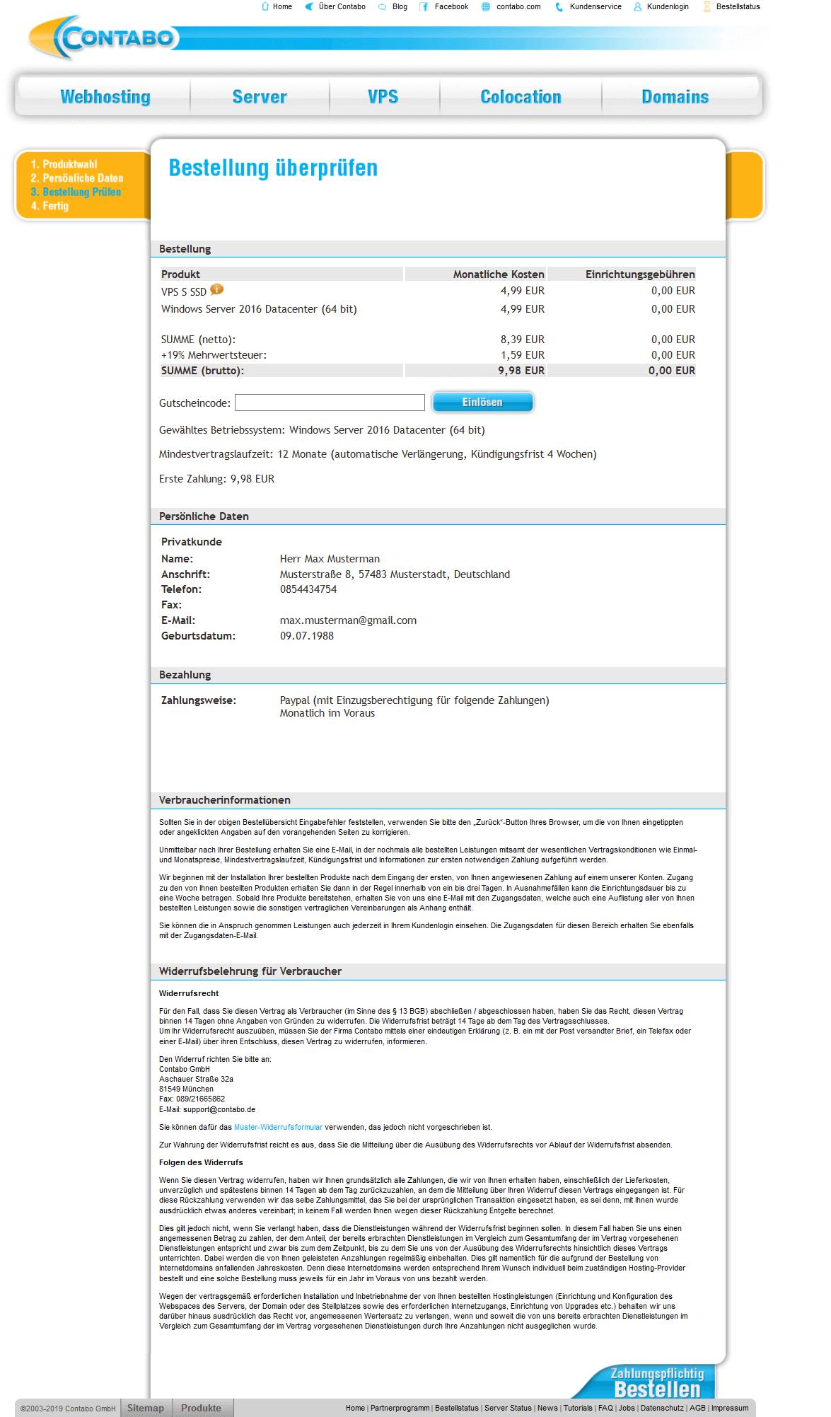 Windows VPS einrichten