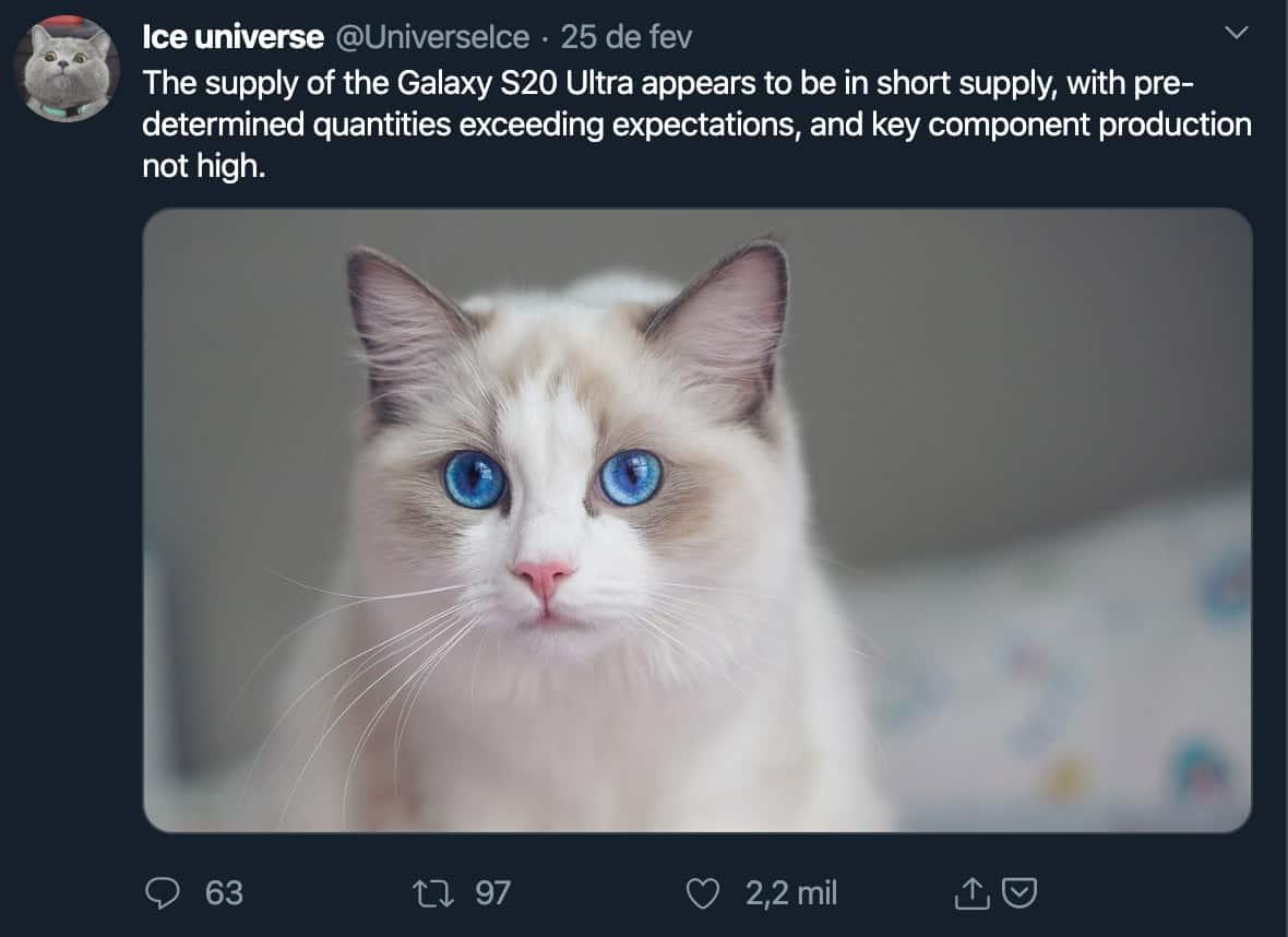 comprar o Galaxy S20 Ultra