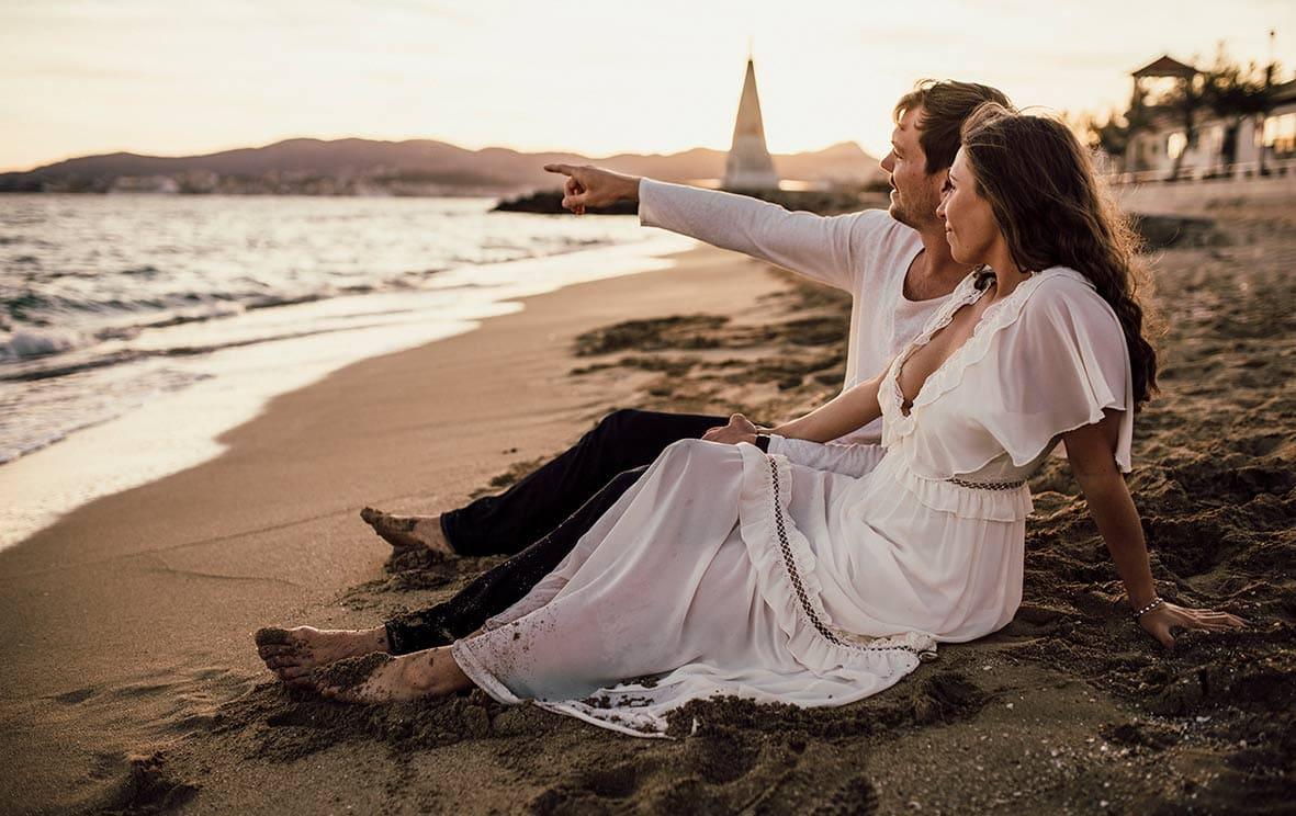 fotos románticas de pareja en Mallorca