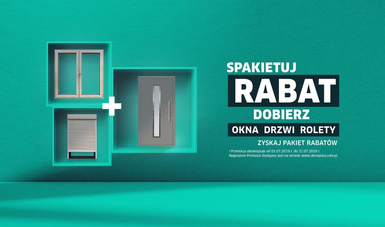 Promocja wakacyjna dobierz drzwi, okna, rolety i uzyskaj rabat