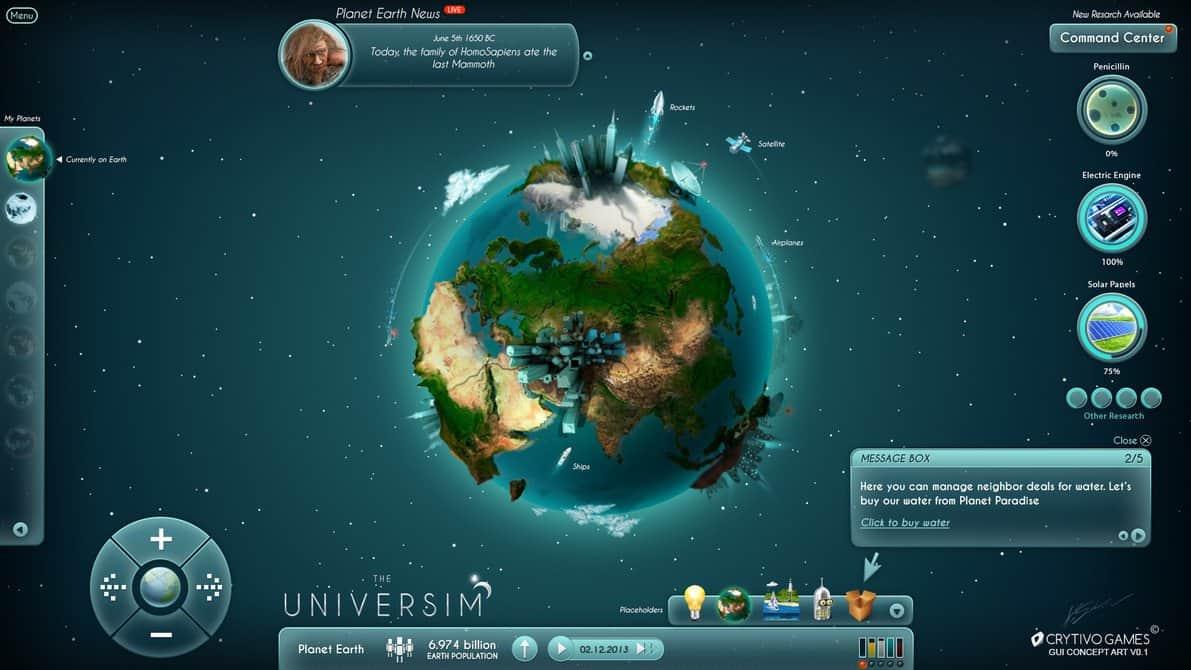رابط کاربری داخل بازی