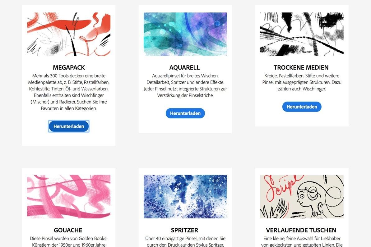1000 kostenlose Photoshop Pinsel herunterladen