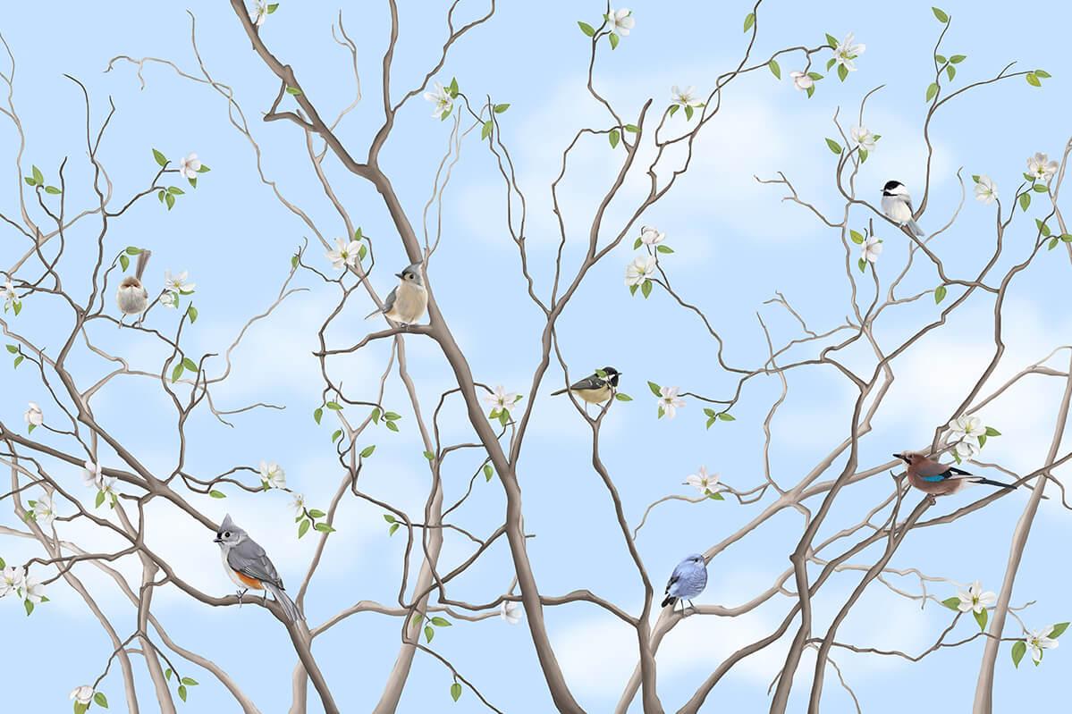 pokój dziecinny - akcenty roślinne Fototapeta Drzewo