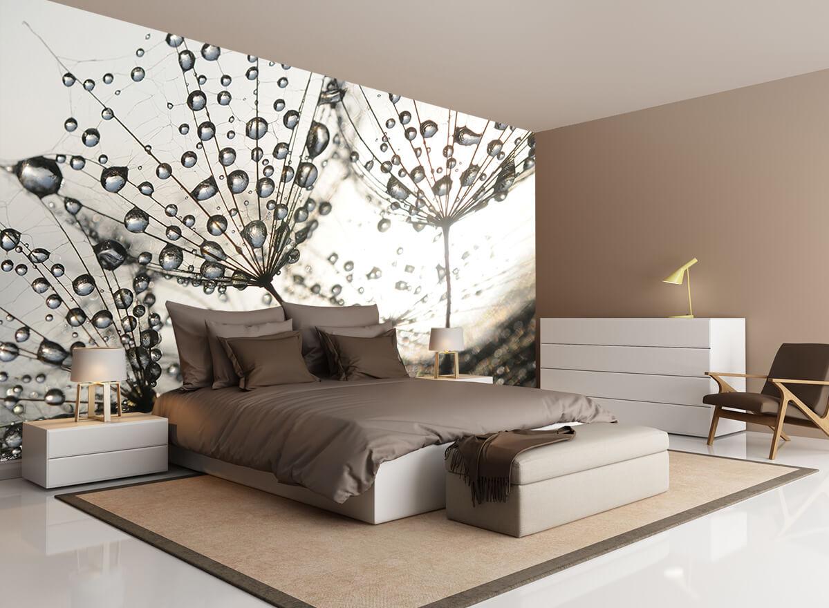 Tapety Kwiaty do sypialni - W kroplach rosy