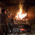 Asado y comida en Rinconada Lodge