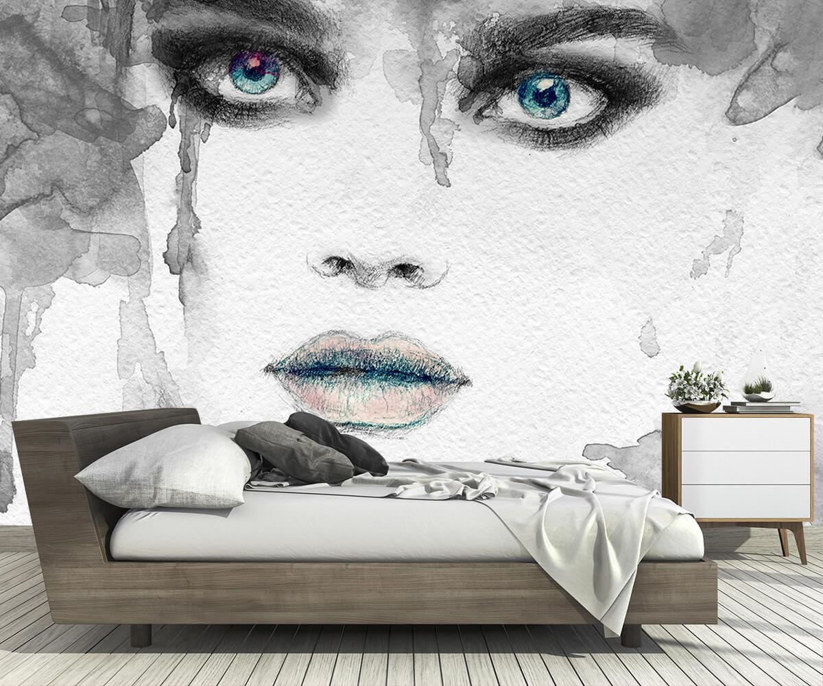 nowoczesne sypialnie - Fototapety abstrakcje - Spojrzenie