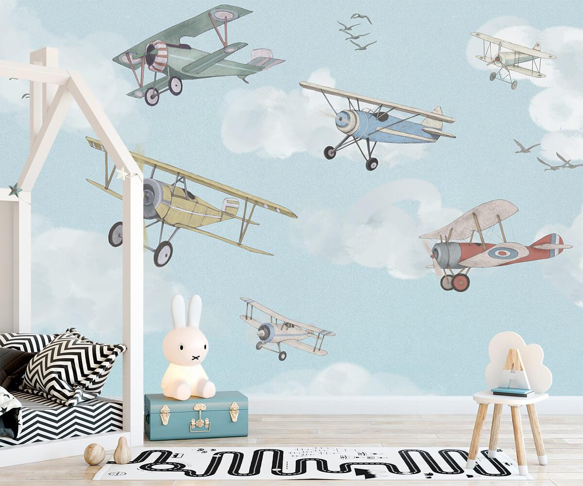 Fototapety do pokoju dziecka - Samoloty Vintage