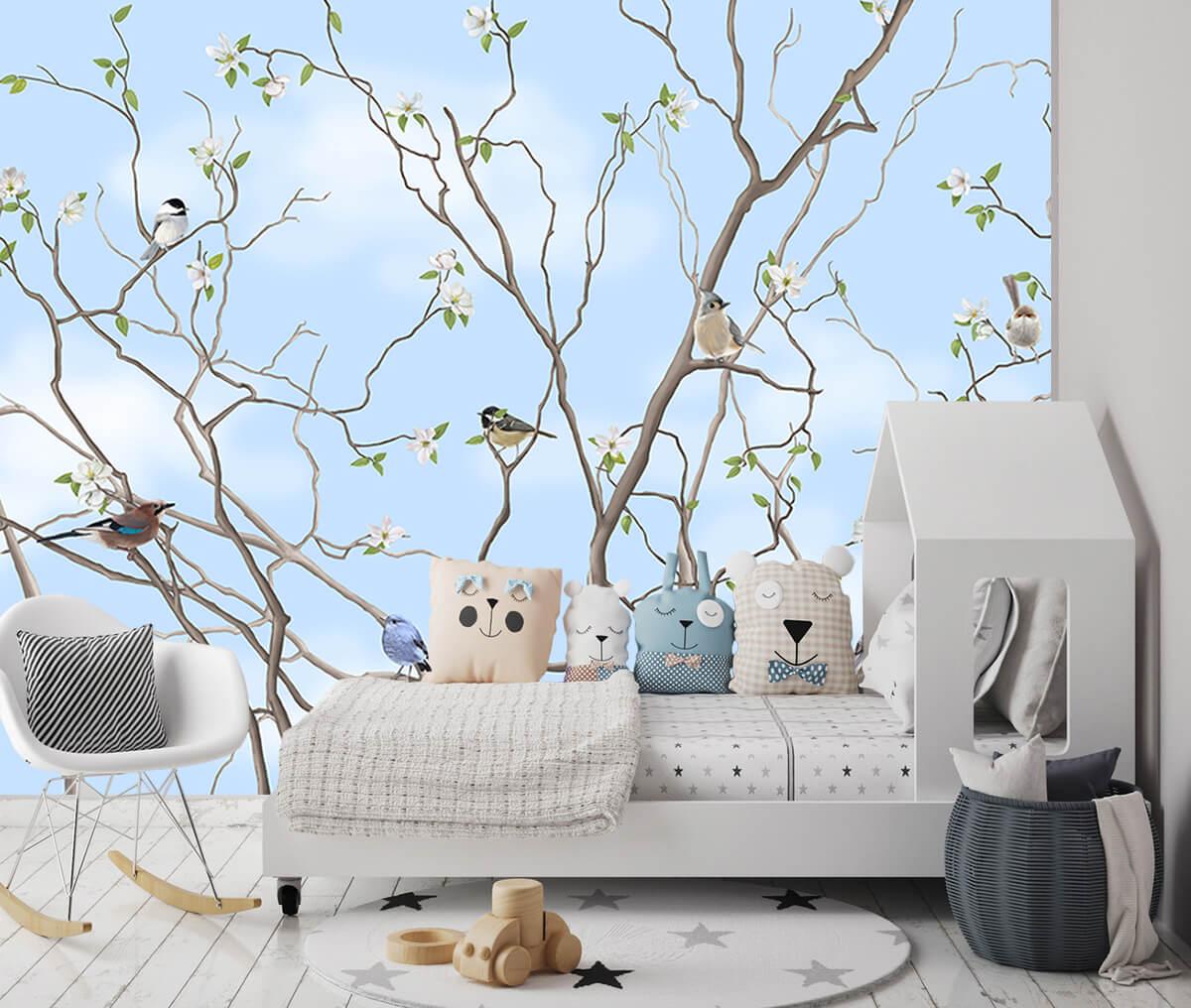 Piękne tapety do pokoju dziecka Drzewo