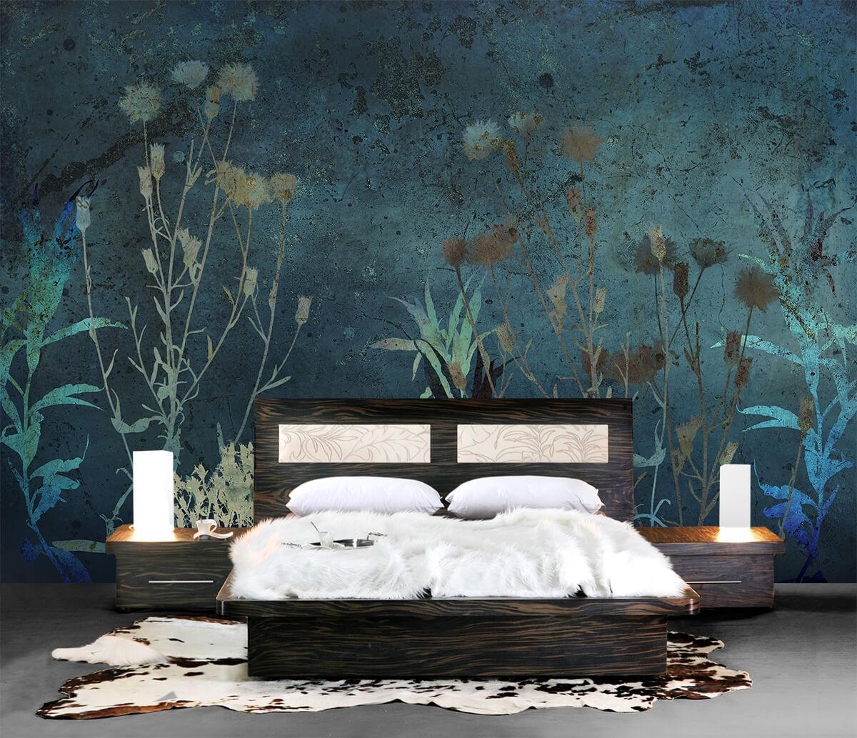 Kwiatowe tapety do sypialni - Kwiaty Nocy