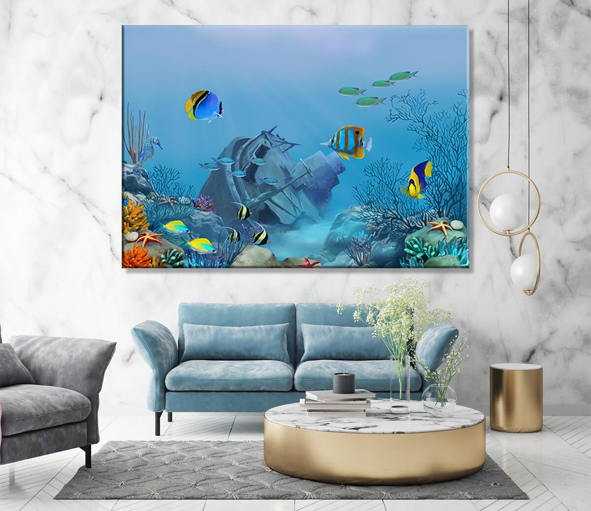 obraz na płótnie morze Głębia Oceanu