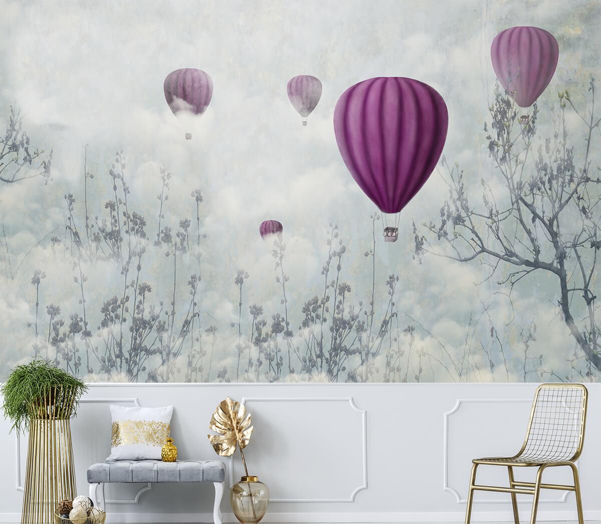 Eleganckie tapety do salonu Balony