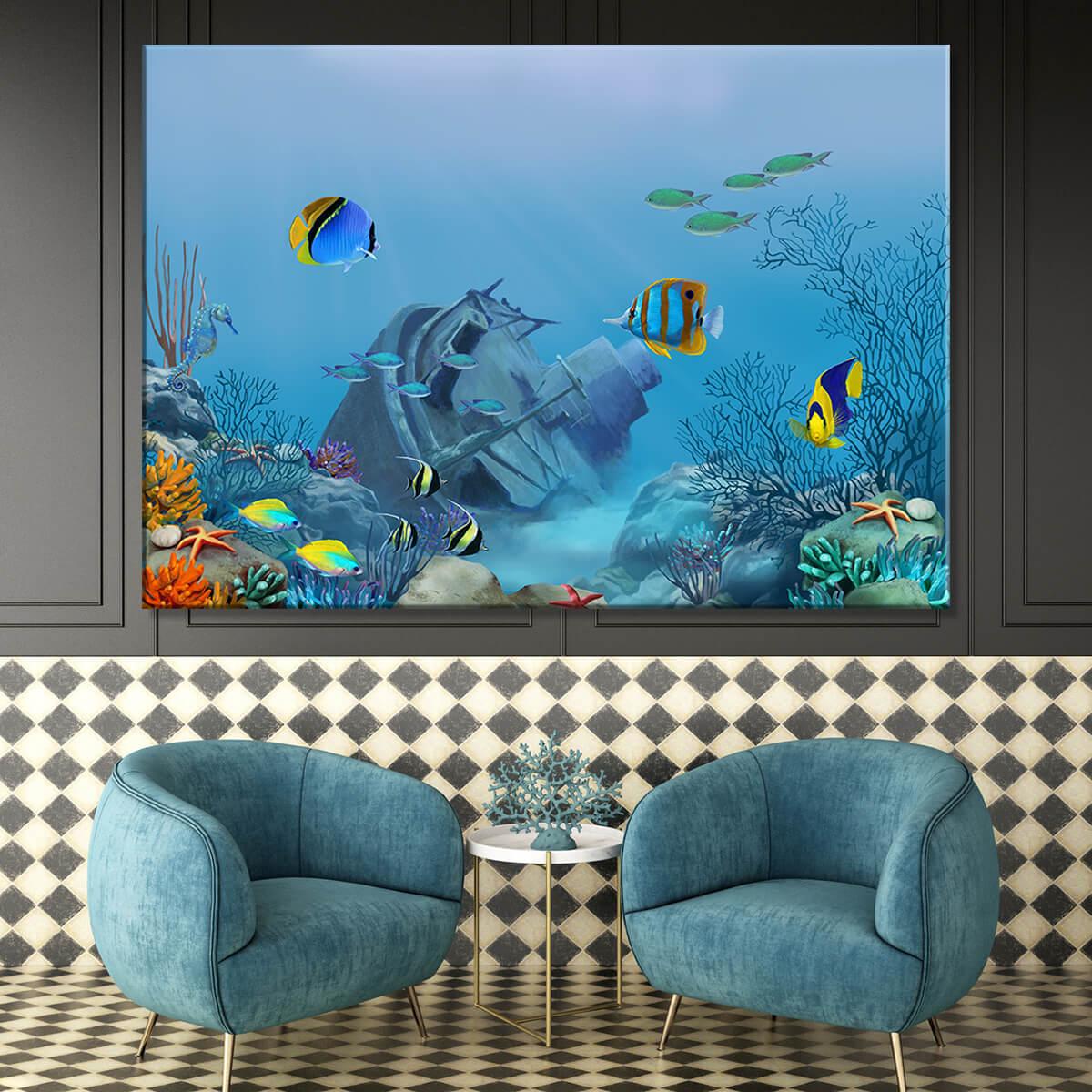obraz na płótnie morski Głębia Oceanu
