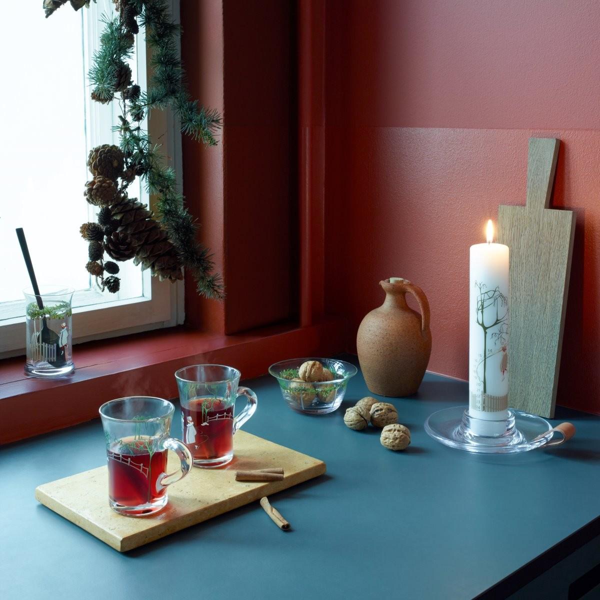 tienda de navidad tazas para vino caliente tazas cristal navidad países nórdicos gløgg y æbleskiver dulces navideños diseño nórdico diseño danés costumbre nórdicas