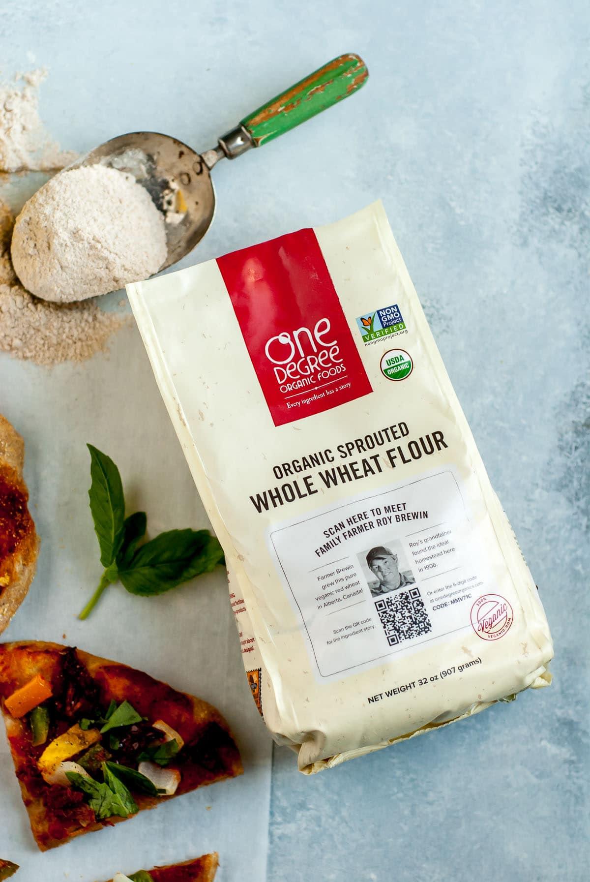 bag of whole wheat flour