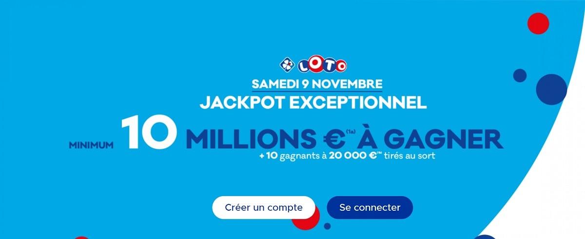 jackpot Loto boosté à 10 millions d'euros ce 9 novembre 2019