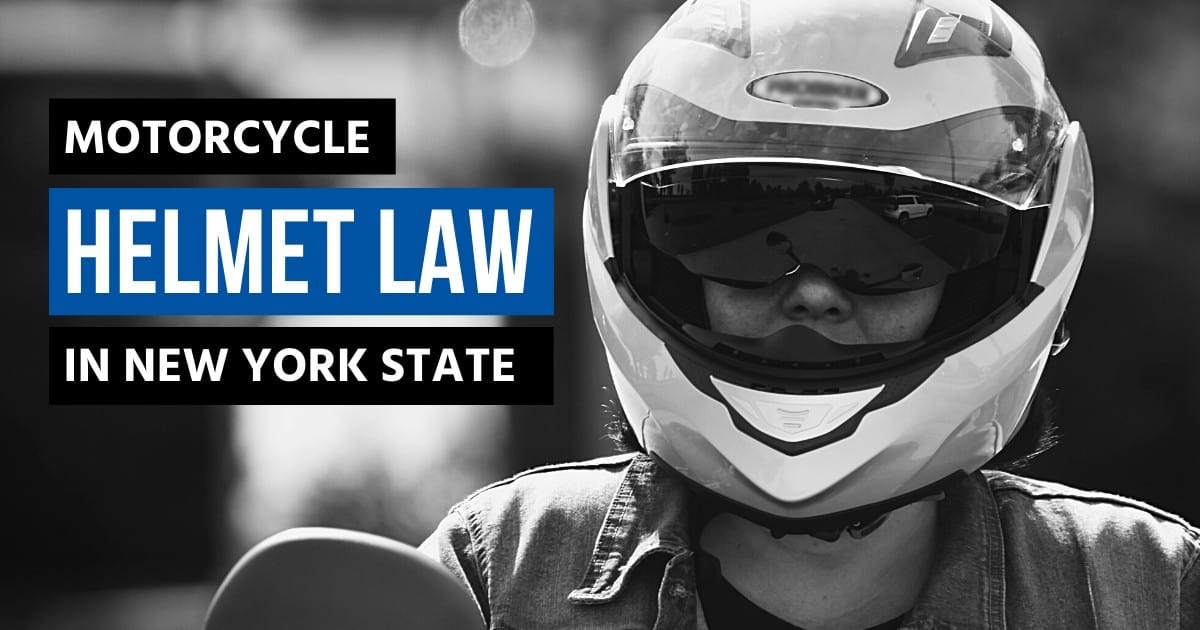 Motorcycle Helmet law in New York State with motorcyclist