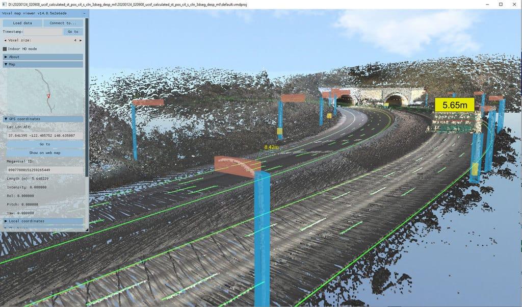 VoxelMaps Vector Lane Model. Photo: VoxelMaps, used with permission.