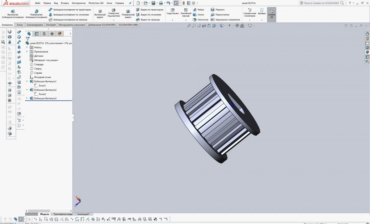 Обзор программы SolidWorks интерфейс