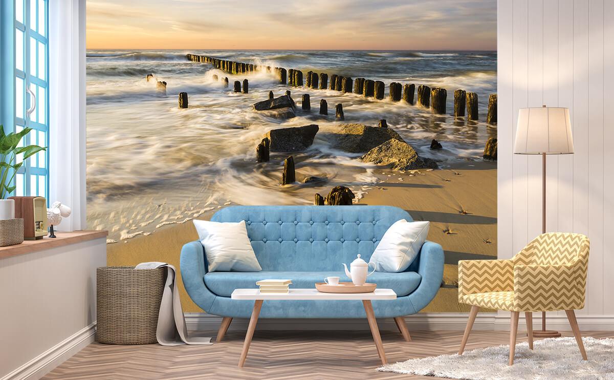 Jak powiększyć mały salon - Fototapeta 3D Nad Bałtykiem