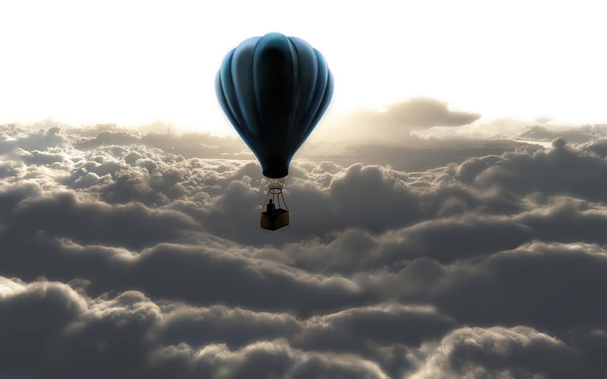 Fototapeta optyczne powiększenie Nad chmurami