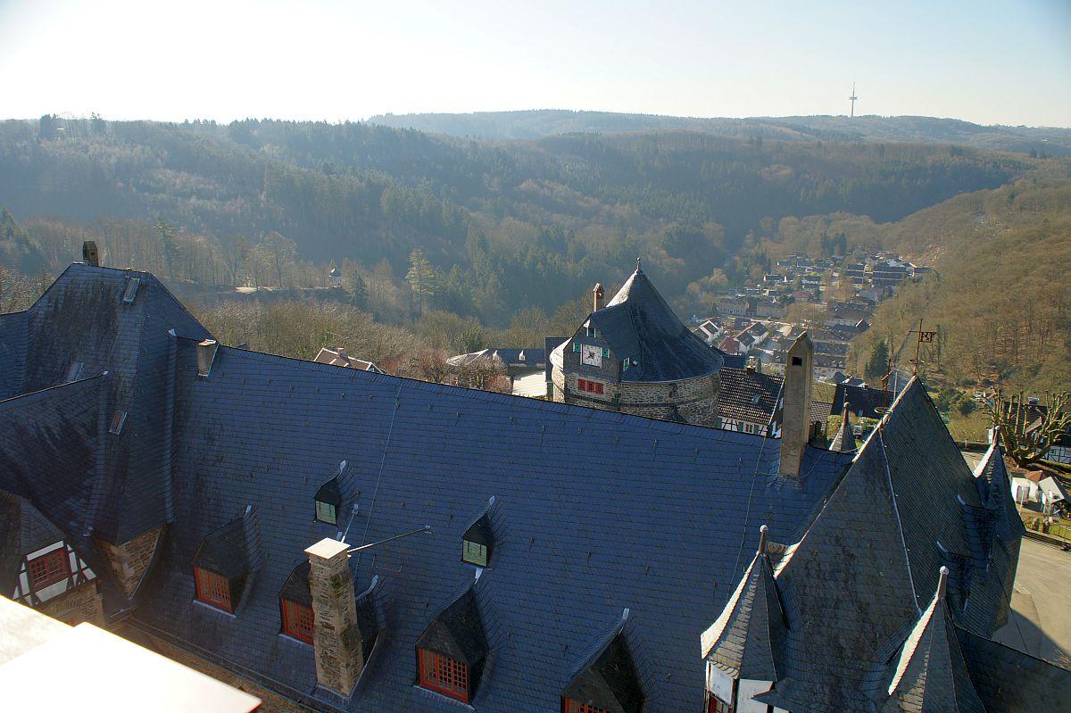 Schloss Burg a. d. Wupper Blick vom Bergfried