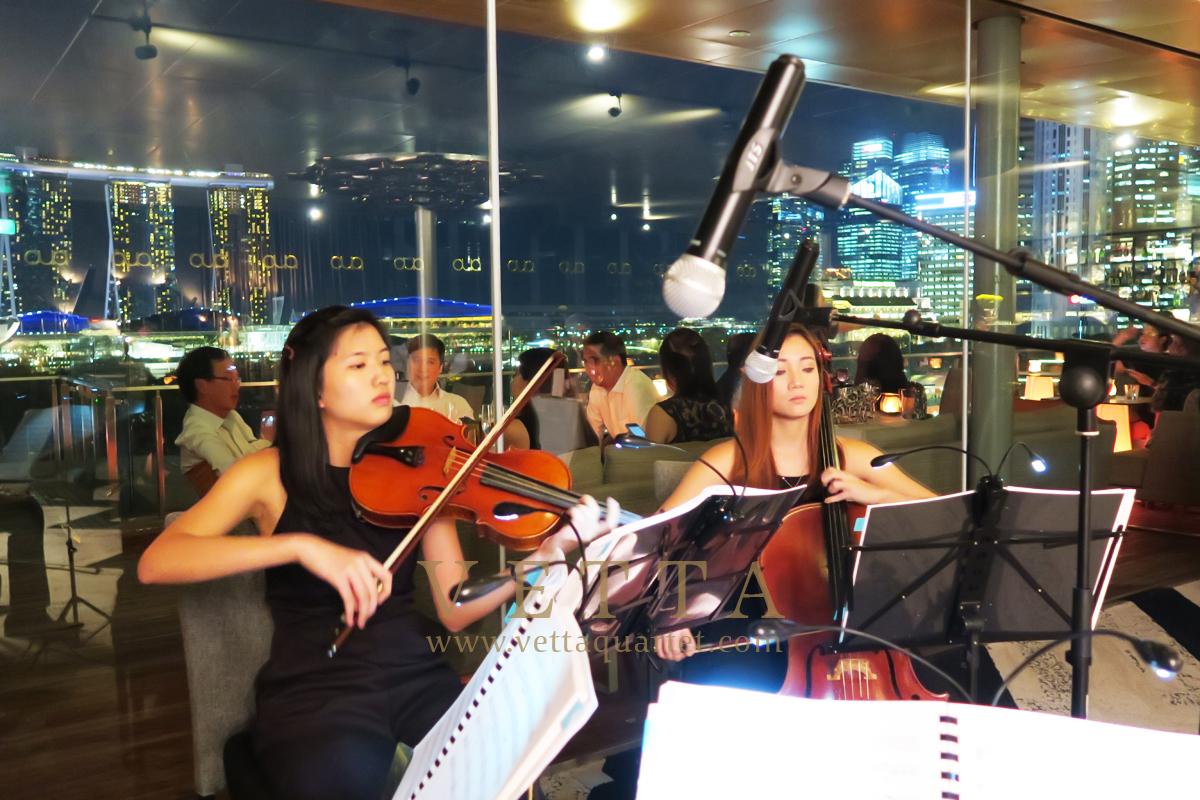 String Quartet for Jones Day at Aura Sky Lounge, National Gallery Singapore