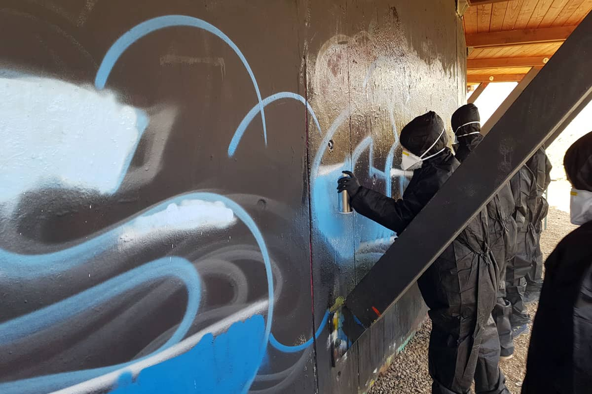 "Graffiti Kindergeburtstag Stuttgart ""Richards Crew"""