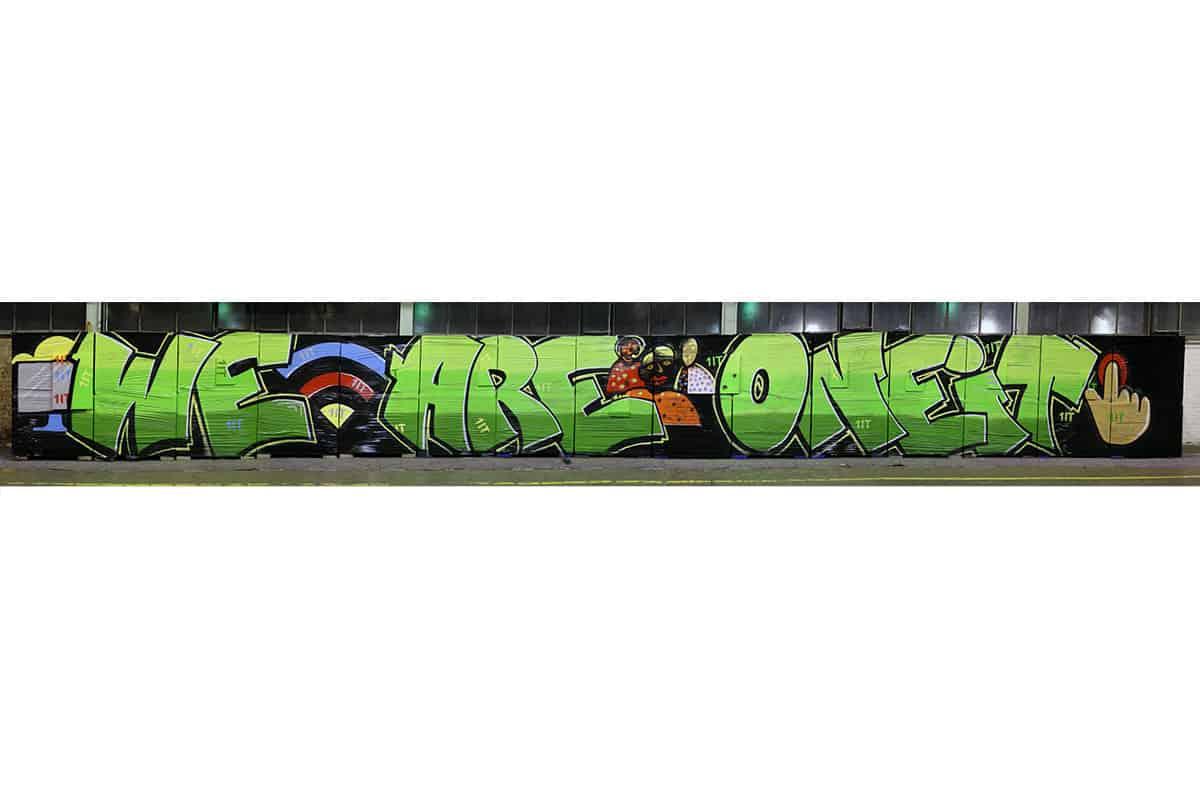 Abschluss einer IT-Konferenz mal anders! Die Informationstechnik Mitarbeiter der Firma Mann + Hummel haben sich dieses Jahr für eine Graffiti Mitmachmalaktion als Highlight entschieden.
