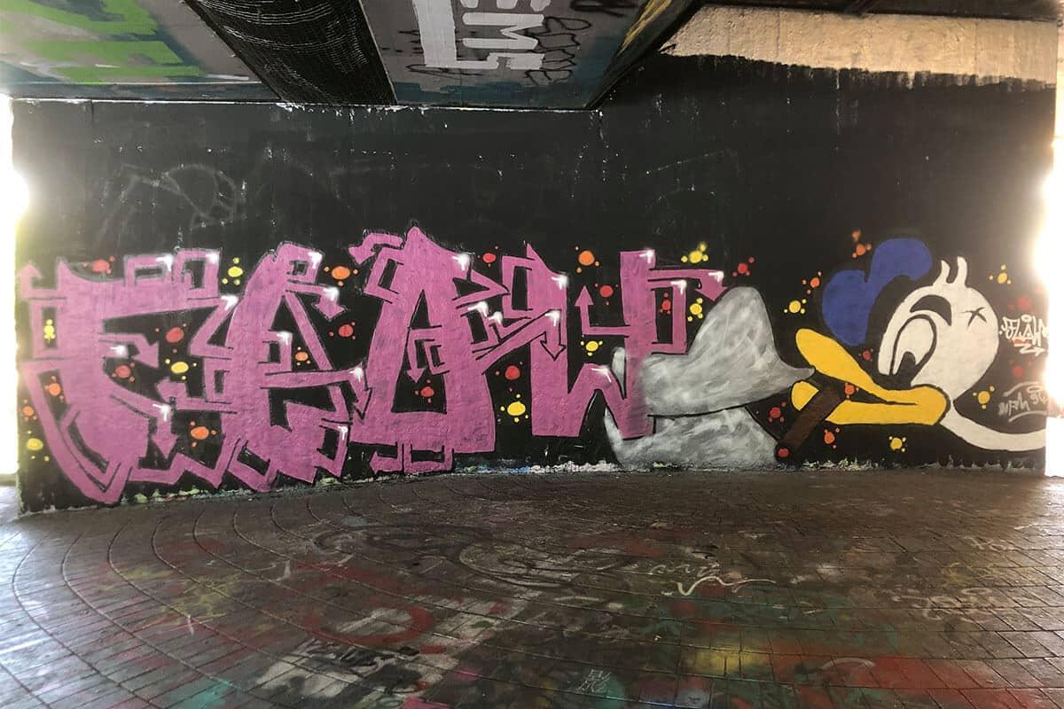 Der Just Spray Graffiti Action Day Juli 2020 war wieder ein kreativerer Tag! Zusammen haben wir einfach nur mal Graffiti gesprüht!