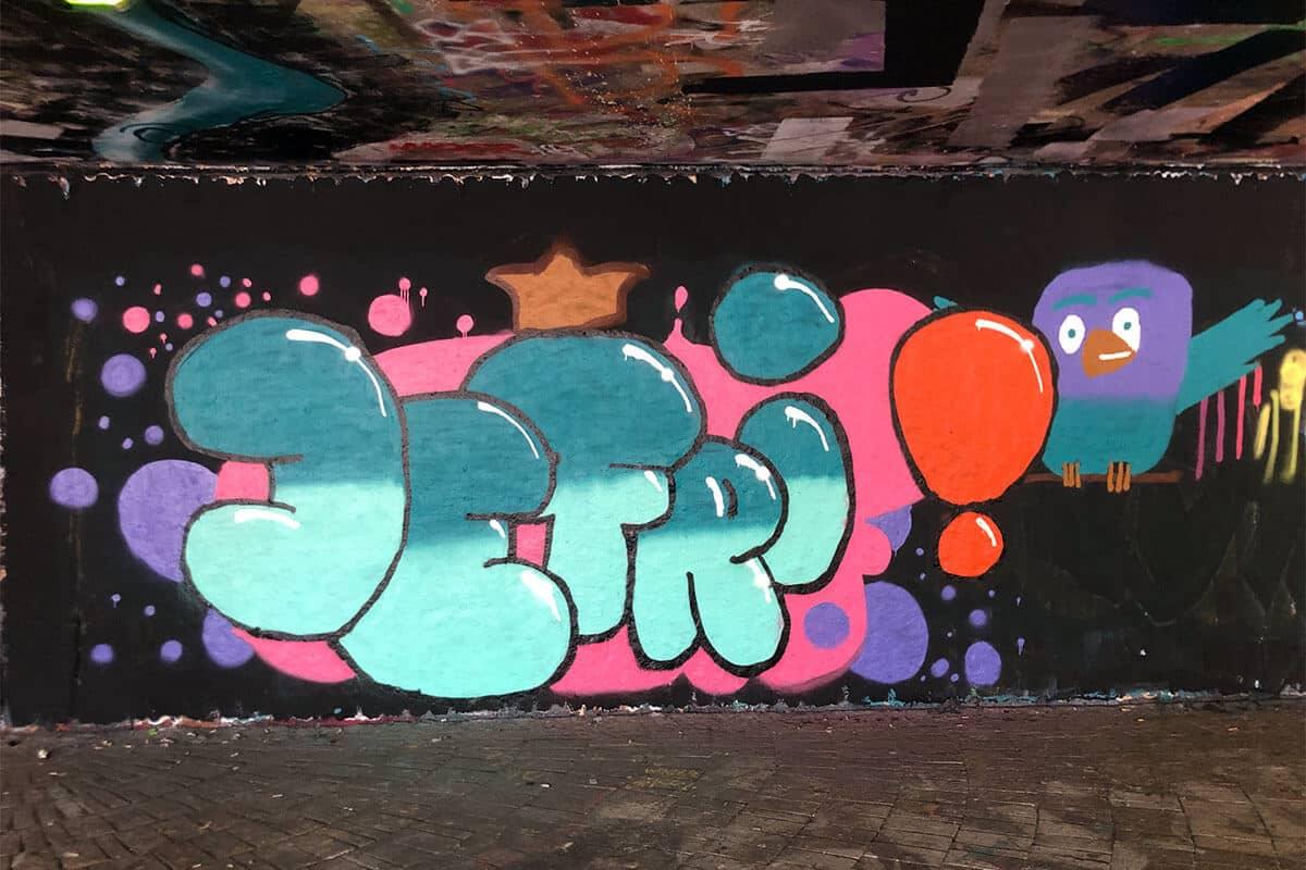 Der Just Spray Graffiti Action Day August 2020 war wieder ein kreativerer Tag! Zusammen haben wir einfach nur mal Graffiti gesprüht!