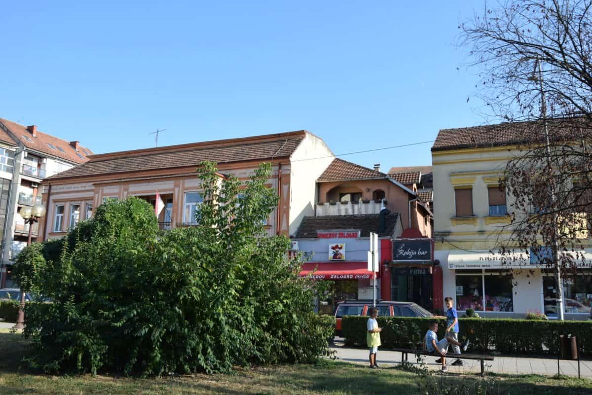 большой дом в самом центре Лозницы