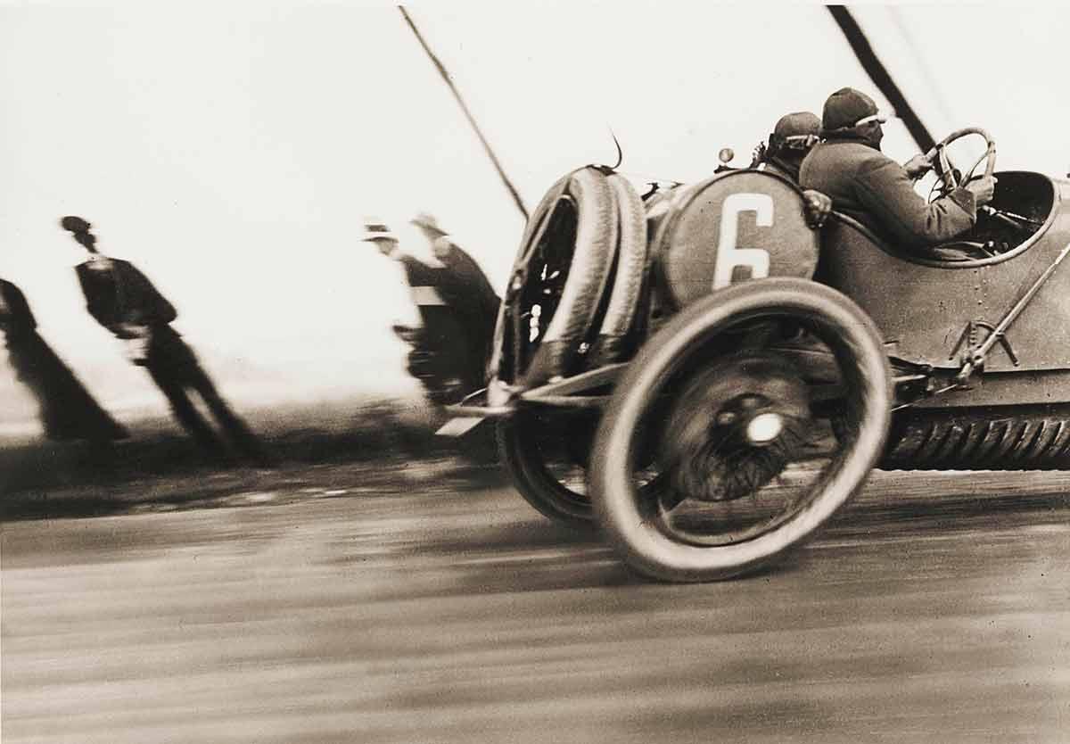 Rolling-Shutter-Effekt: Jacques-Henri Lartigue: Grand Prix de l'A.C.F., Delage racing car, Dieppe, June 26, 1912