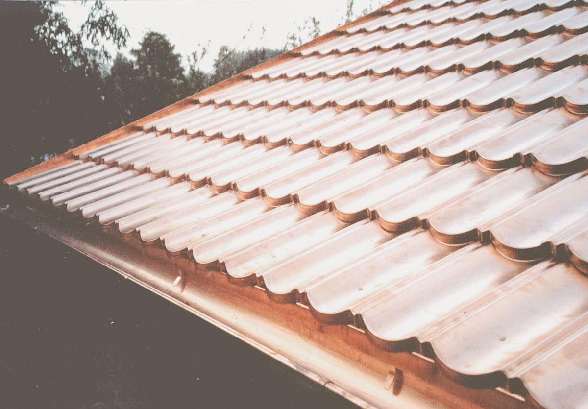 Panele dachówki z miedzi