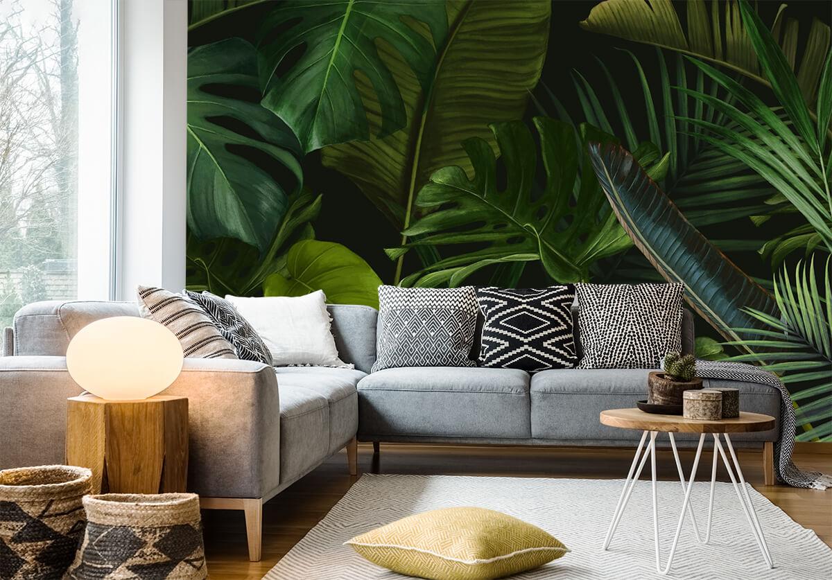 tapety inspirowane naturą-dżungla-liście
