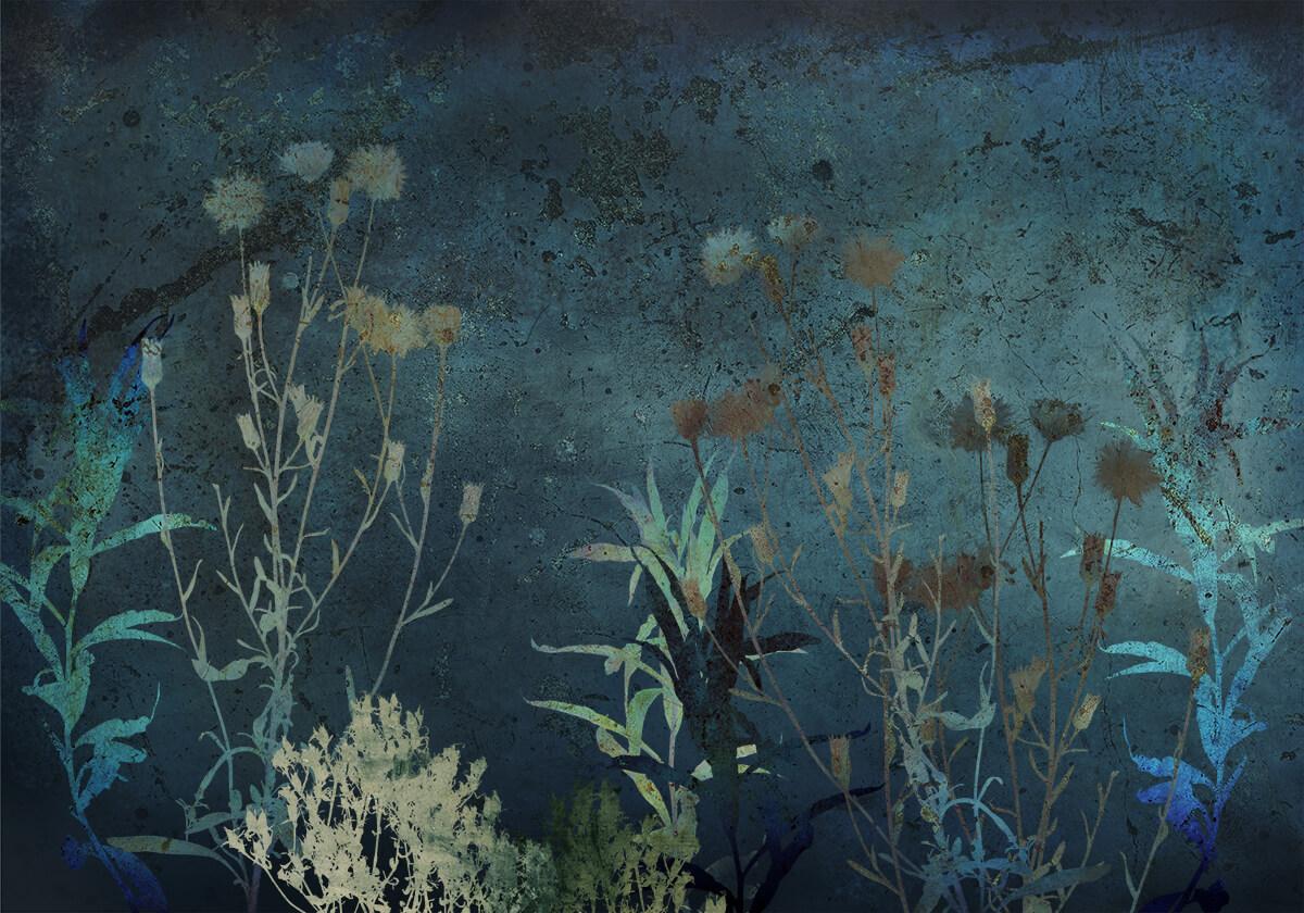 Artystyczne tapety z kwiatami