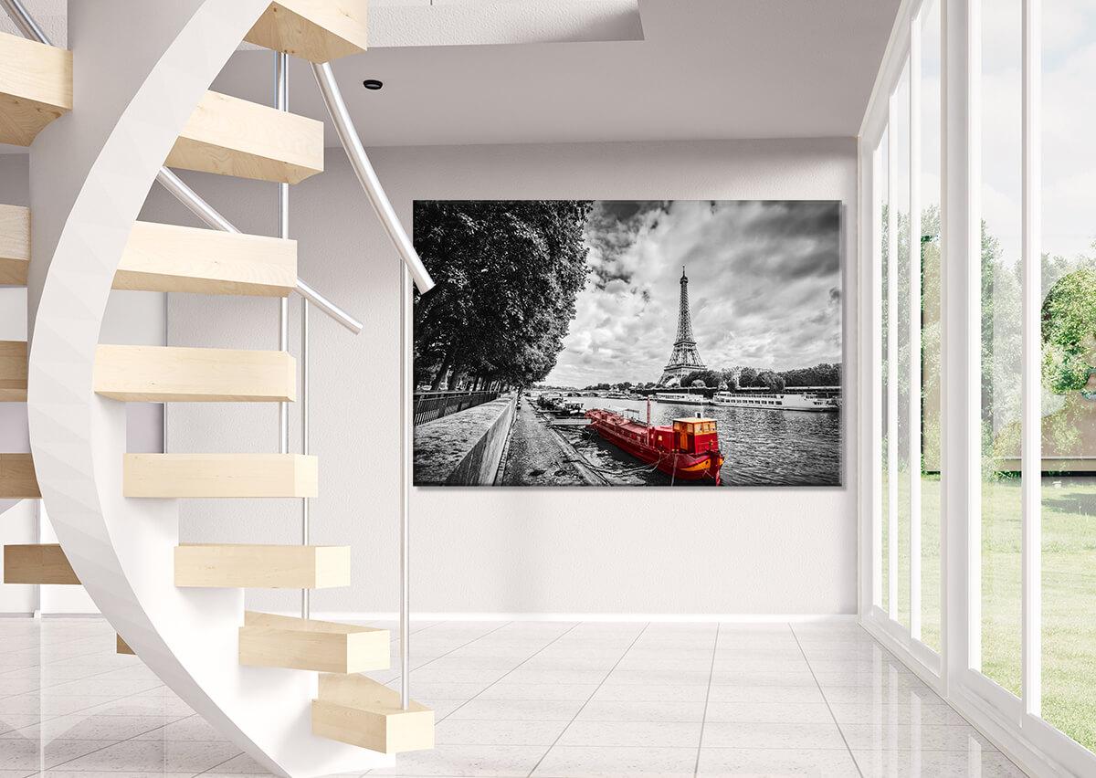 Obrazy do korytarza - Barki na Sekwanie
