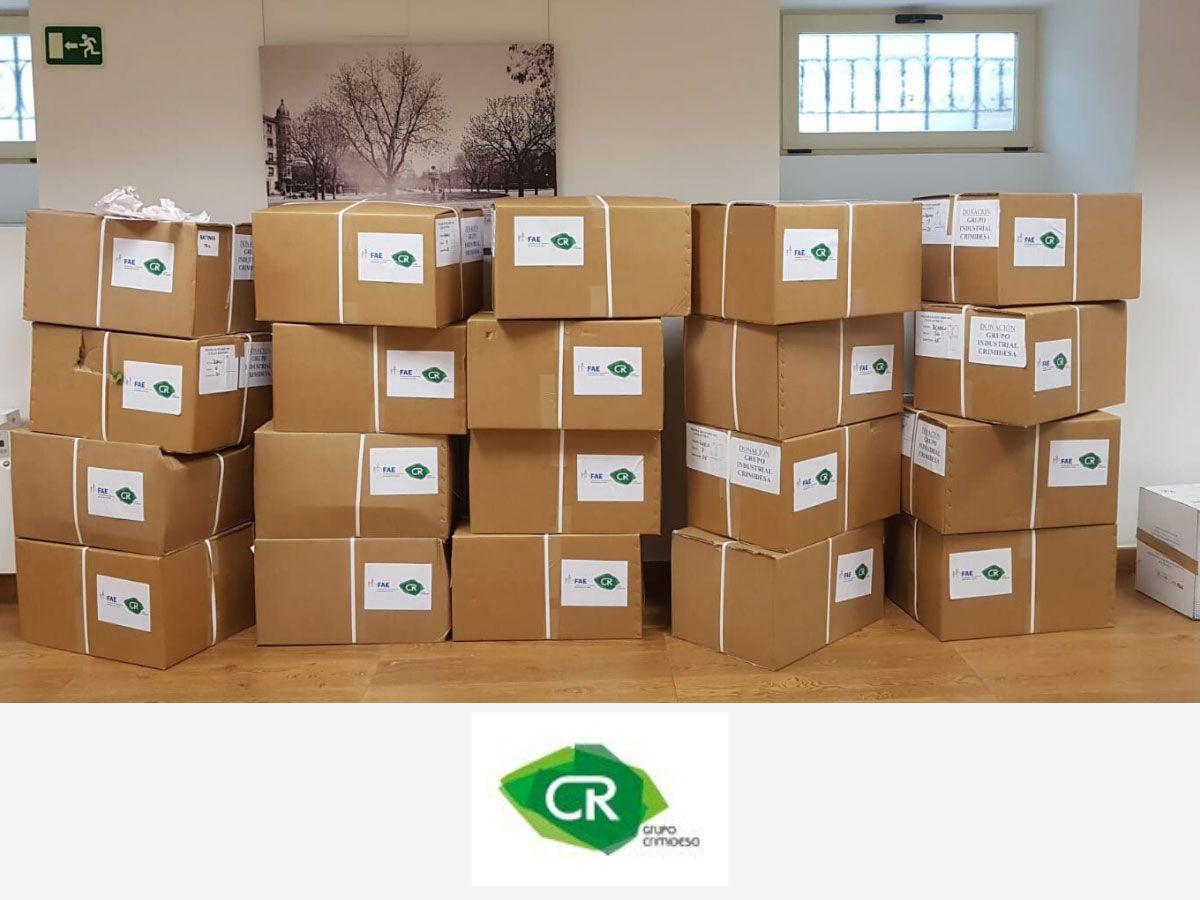Grupo Industrial Crimidesa hace una importante donación para la adquisición de material sanitario de protección, así como al Banco de Alimentos de Madrid
