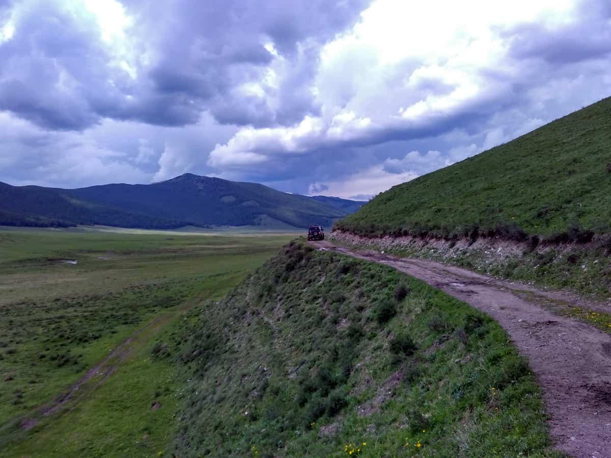 горный серпантин, Алтай