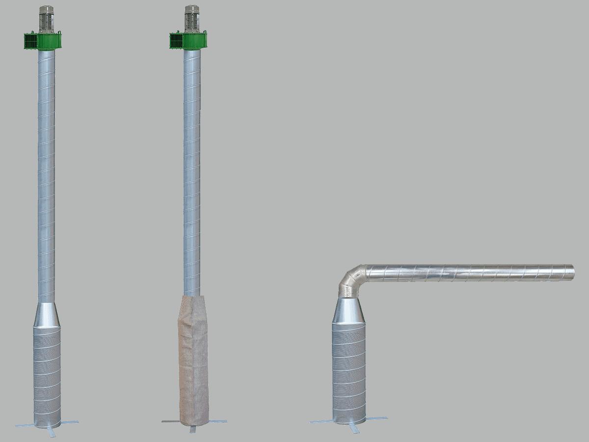 Martin Lishman P3 Pile suhe žitarice sa zelenim ventilatorom za optimizirani sustav hlađenja zrna