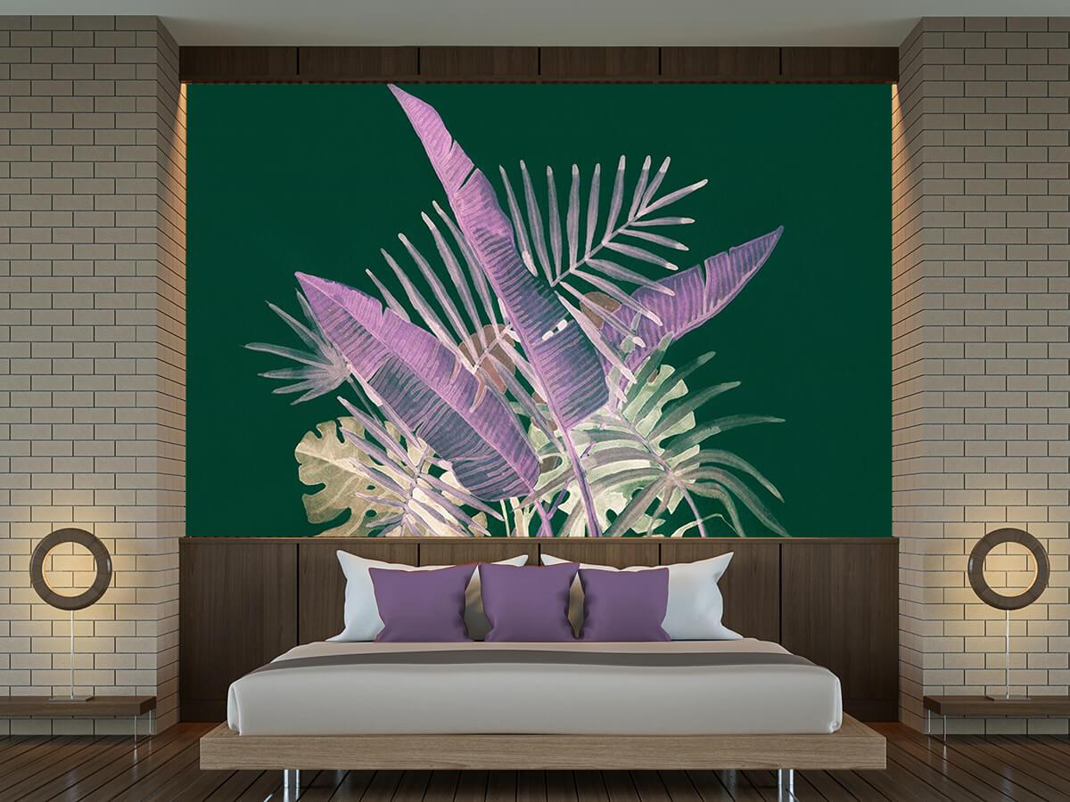 Motywy Kwiatowe i roślinne w sypialni -fototapeta Dysharmonia