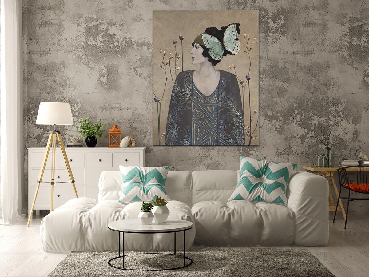 Nowoczesny salon na ścianie piękny obraz na płótnie - Portret Kobiety