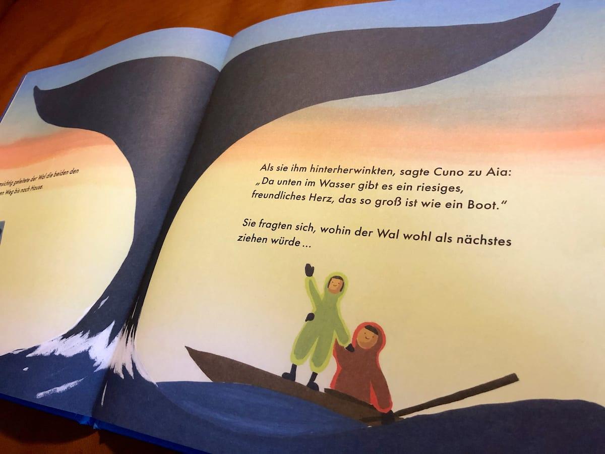 Kinderbücher für die Skandinavienreise - Buchtipp - Wale (innen)