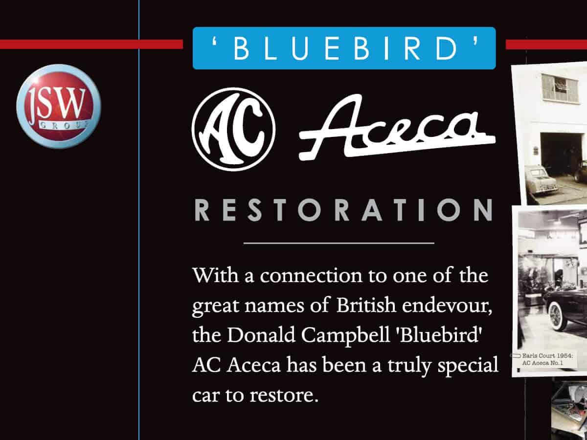 Bluebird AC Aceca Restoration story for Techno Classica Car Show in Essen