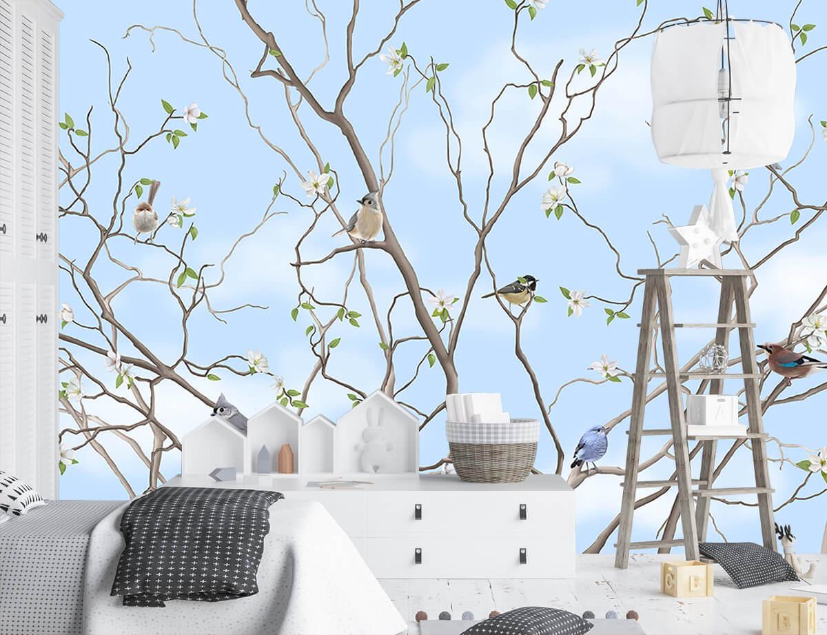 Urządzamy pokój dla dziecka - tapeta Drzewo