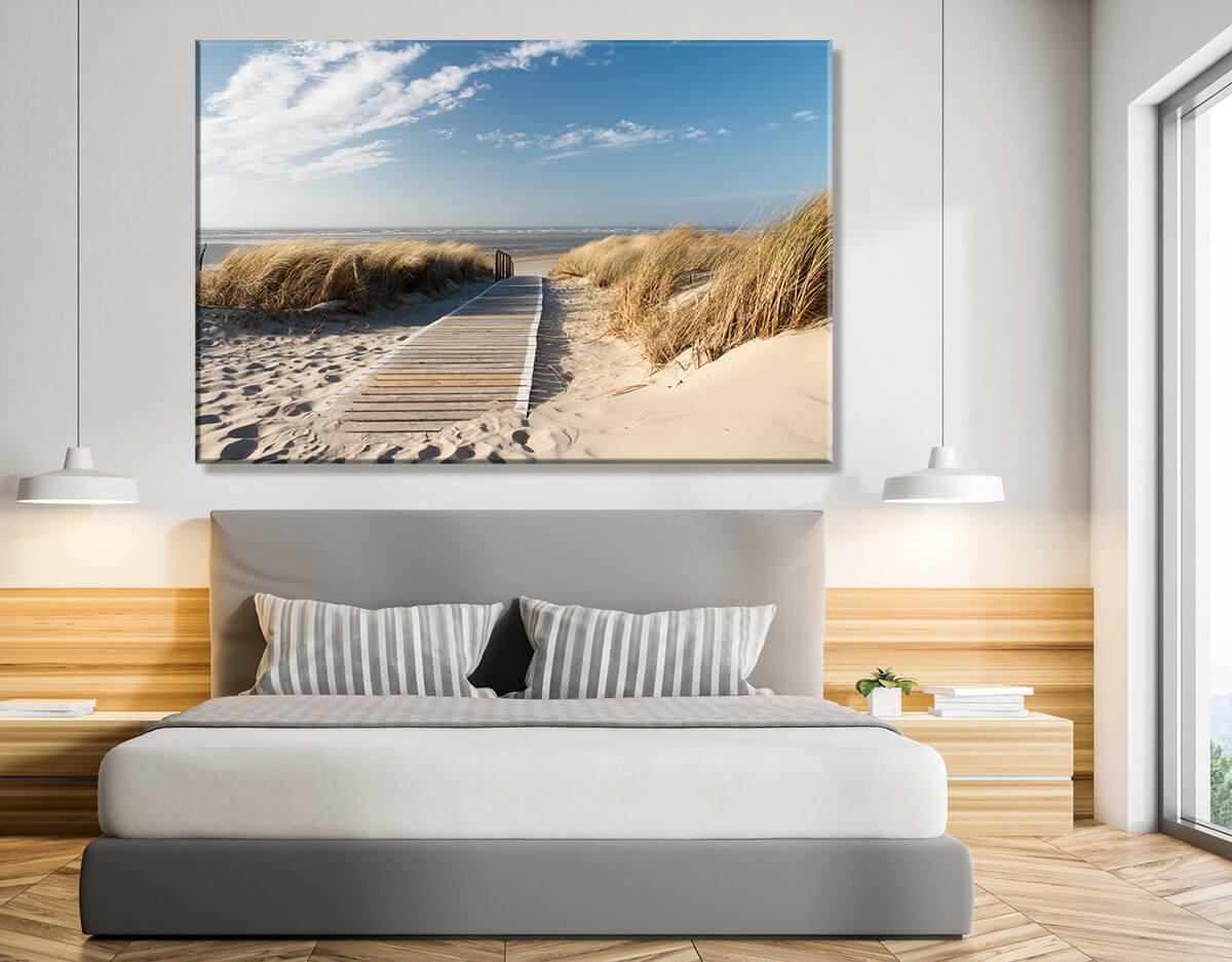 Plaża Morze - obrazy do sypialni