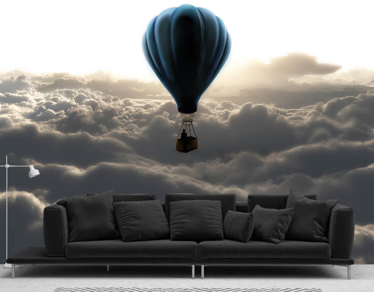 3D Fototapety do salonu Nad chmurami