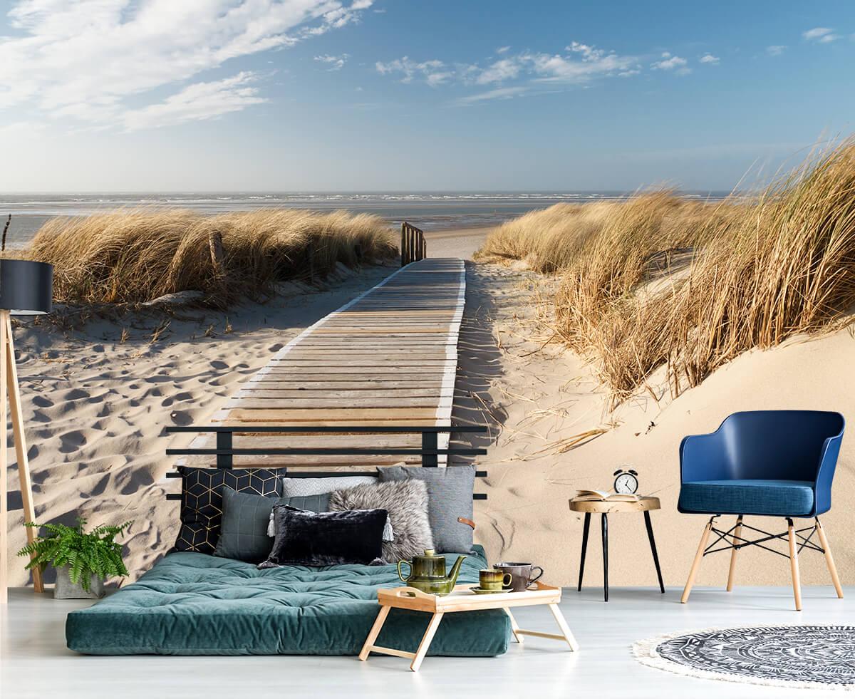 Aranżacja sypialni - fototapeta w plażę i morze