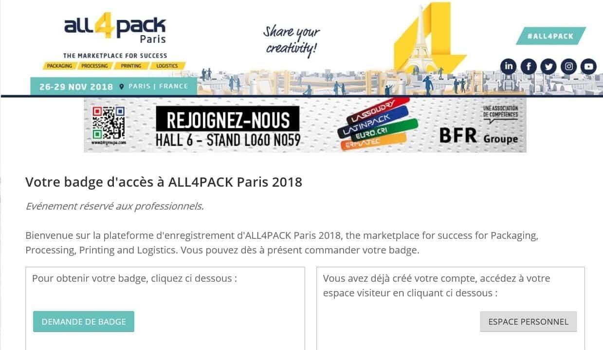 Salon ALL4PACK Ner-France