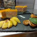 assiette de foie gras avec l'altibox degustation