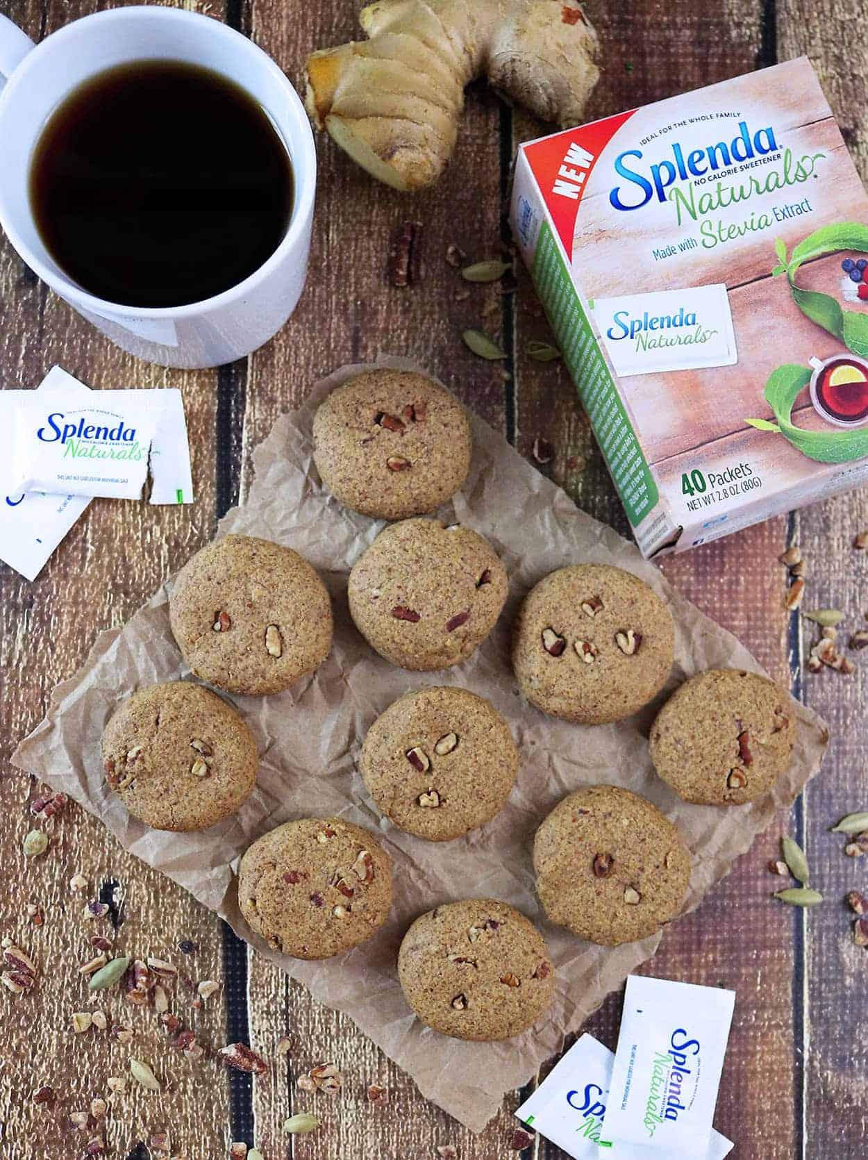 Ginger Cardamom Cookies - gluten-free, sugar-free, sweetened with Splenda Naturals